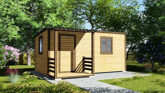 Деревянный сарай с односкатной крышей 125