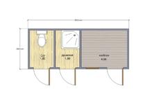 Хозблок 3 в 1 душ туалет 5х2