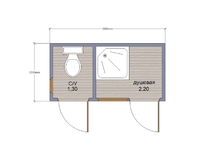 Бытовка и туалет для дачи 3х1.5