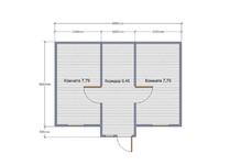 Курятник 6х4 с двухскатной крышей