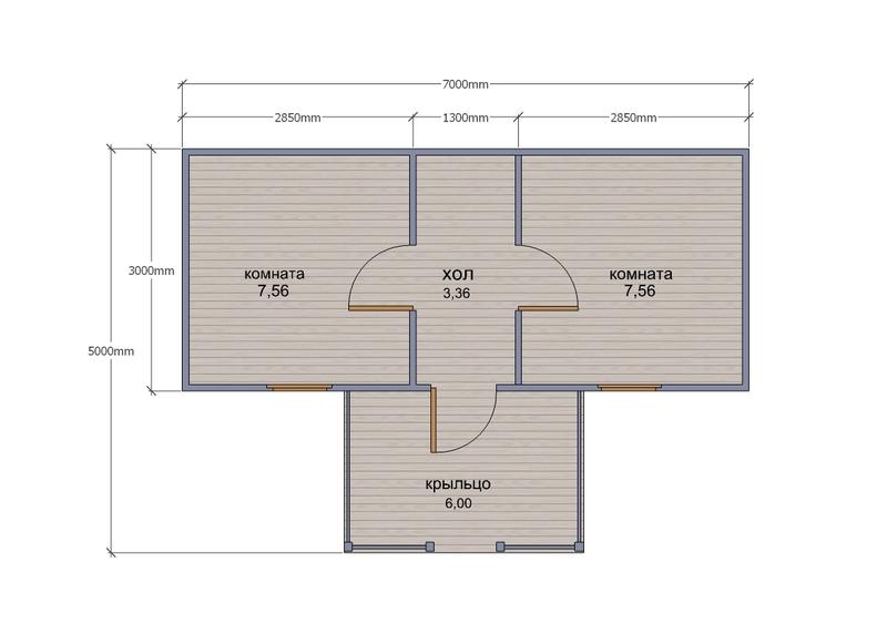 Деревянный сарай с односкатной крышей 265